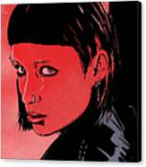 Lisbeth Salander Mara Rooney Canvas Print by Giuseppe Cristiano