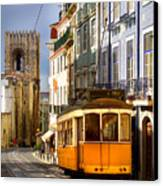 Lisbon Tram Canvas Print by Carlos Caetano