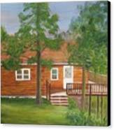 Little Cabin In The Big Woods Canvas Print
