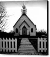 Little Church B And W Canvas Print by Julie Hamilton