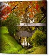 Little Covered Bridge Canvas Print by Trina Prenzi