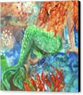 Little Mermaid Canvas Print by Jennifer Kelly