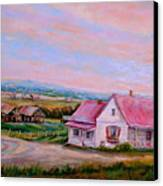 Little Pink Houses Canvas Print