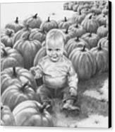 Little Pumpkin Canvas Print
