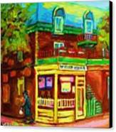 Little Shop On The Corner Canvas Print
