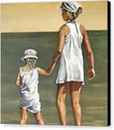 Little Sisters Canvas Print