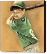 Little Slugger Canvas Print by Robin Martin Parrish