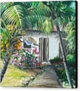 Little West Indian House 2...sold Canvas Print