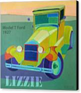 Lizzie Model T Canvas Print by Evie Cook
