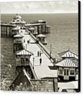 Llandudno Pier North Wales Uk Canvas Print