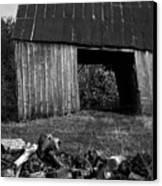 lloyd-shanks-barn-2BW Canvas Print