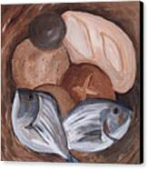 Loaves And Fishes Canvas Print