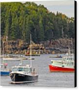 Lobster Boats In Bar Harbor Canvas Print by Jack Schultz
