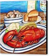 Lobster Dinner Canvas Print by Patricia L Davidson