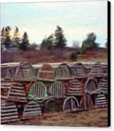 Lobster Traps Canvas Print by Jeff Kolker