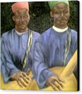 Local African Guitarist Canvas Print