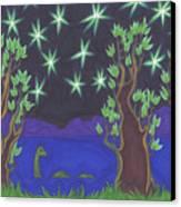 Loch Ness Night Canvas Print