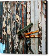 Locked Door Canvas Print by Perry Webster