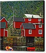 Lofoten Fishing Huts Canvas Print