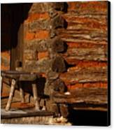Log Cabin Canvas Print by Robert Frederick