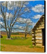 Log Cabin Valley Forge Pa Canvas Print