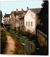 Loire Valley Village Scene Canvas Print