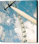 London Eye Ferris Wheel Canvas Print by Andy Smy