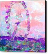 London Eye Canvas Print by Marilyn Sholin