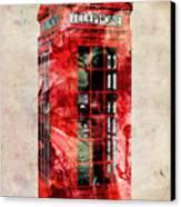 London Phone Box Urban Art Canvas Print