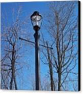 Lonely Lamp Post Canvas Print by Deborah MacQuarrie-Haig