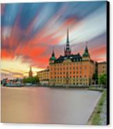 Long Exposure Stockholm Sunset Canvas Print