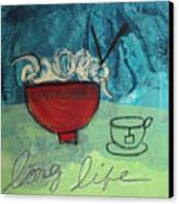 Long Life Noodles Canvas Print