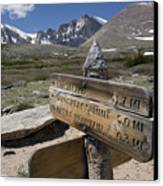 Longs Peak Seen From Chasm Lake Trail Canvas Print