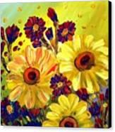Looking At Sun  Canvas Print