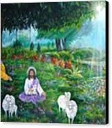 Lord Jesus And Lord Krishna Canvas Print