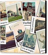 Los Angeles Polaroid Collage Canvas Print