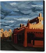 Los Farolitos,the Lanterns, Santa Fe, Nm Canvas Print by Erin Fickert-Rowland