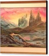 Los Picachos Canvas Print by Benito Alonso
