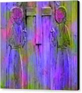 Los Santos Cuates - The Twin Saints Canvas Print by Kurt Van Wagner