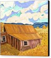 Lost Cabin In The Mountains Canvas Print by Sydne Archambault