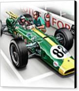 Lotus 38 Indy 500 Winner 1965 Canvas Print by David Kyte