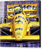 Lotus 99t Spa 1987 Ayrton Senna Canvas Print