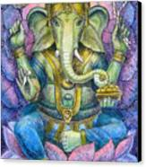 Lotus Ganesha Canvas Print by Sue Halstenberg
