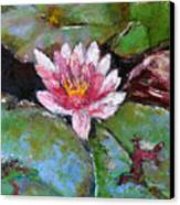 Lotus Of The Pond Canvas Print