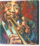 Louis Armstrong Canvas Print by Tachi Pintor