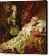 Louis Xv And Madame Dubarry Canvas Print by  Gyula Benczur
