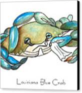 Louisiana Blue Crab Canvas Print by Elaine Hodges