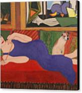 Lounging With Picasso Canvas Print