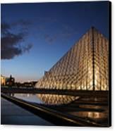 Louvre Puddle Reflection Canvas Print