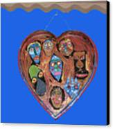 Lovable Funny Faces Canvas Print